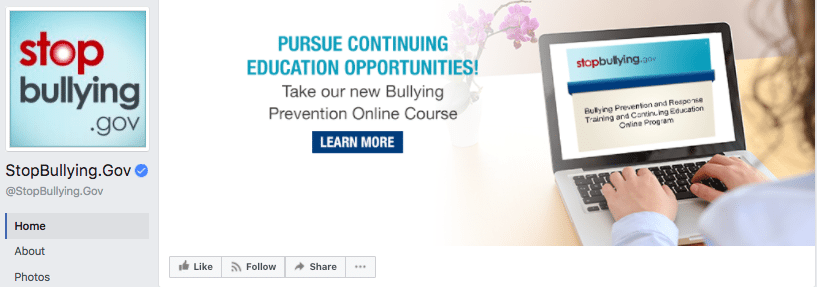 Stop Bullying digital experience