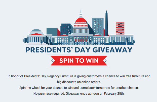 Tied the spin to win game with a holiday sale with deadline.